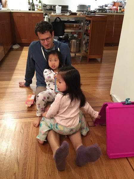 Ava, Alivia, & Uncle Theo