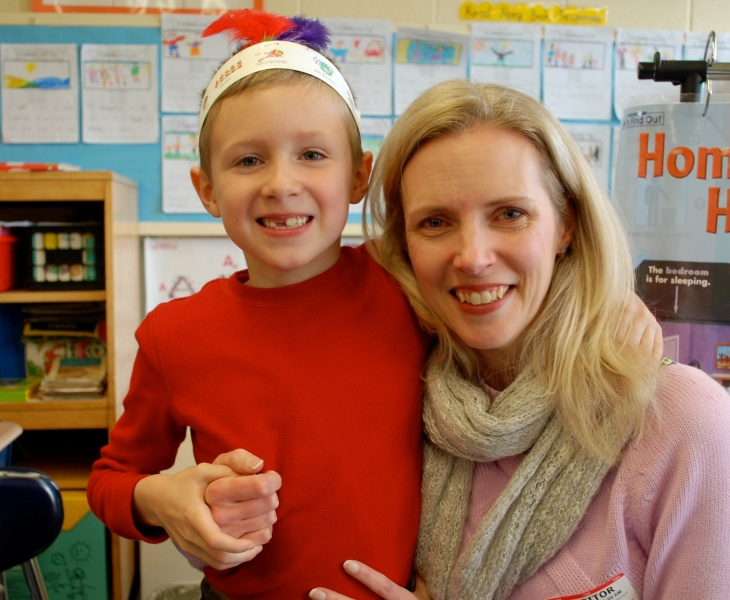 Debbie & Brandon at his Thankful Celebration at School