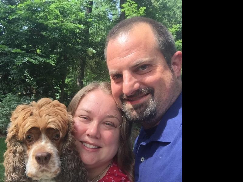 Backyard family selfie