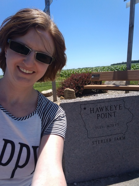 Kristia at the highest point in Iowa!