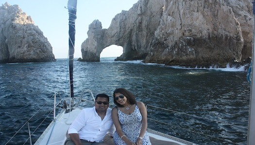 Sailing around the famous arch in Cabo San Lucas, Mexico