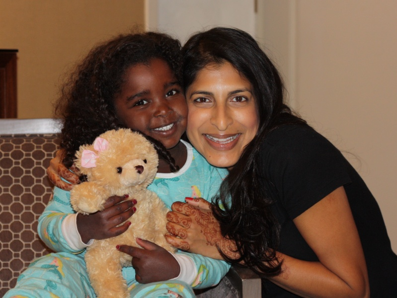 Meera and our adopted niece, Miralena