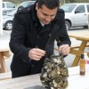 Chai shucking oysters on a trip to the Sonoma coast