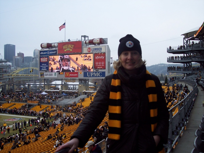 At a Steelers football game!