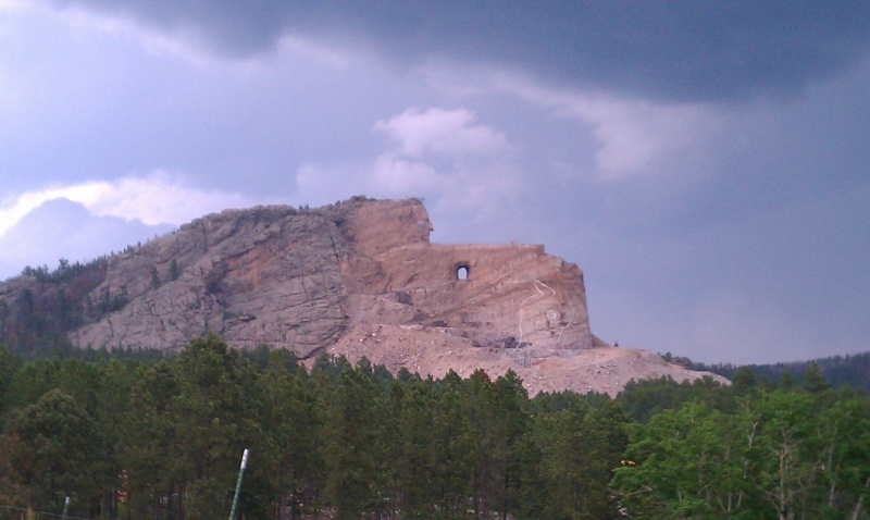 Monument to Crazy Horse in progress. Black Hills, SD.