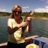 Lauren caught the biggest fish of the day! Walleye!