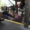 At Kennywood amusement park, a Pittsburgh tradition. Log jam water ride.