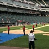 Running the bases at White Sox Cellular Field at the end of the game!