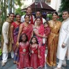 Our beautiful, culturally diverse family at our wedding (and we had the cutest flower girls)!
