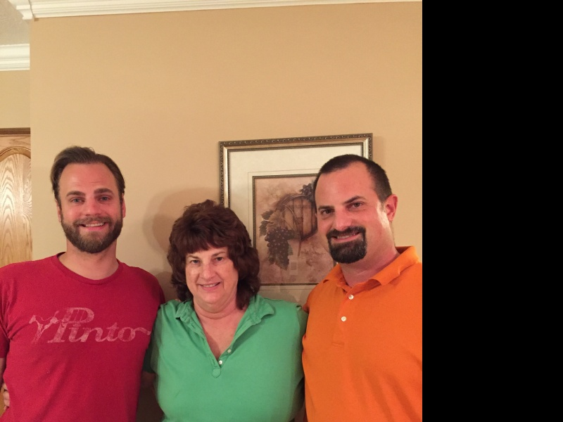 Chris, with his Mom, Gail and brother, Matt