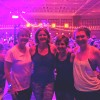 Yoga under black lights with family & friends
