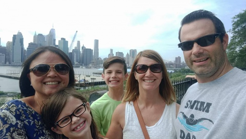 Touring NYC with goddaughter & family