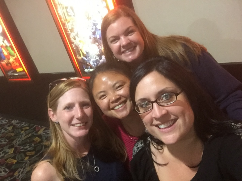 Girls Night at the movies with best friends from childhood