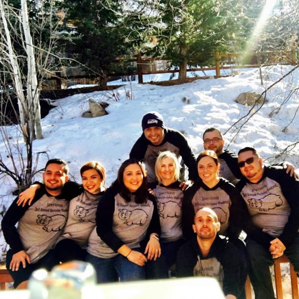 We head to Big Bear every year for Liz's birthday with our friends who are family.