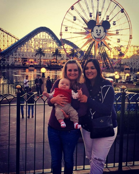 We can't wait to take our new baby and Ian to Disneyland with Tara and Elliott. (Liz's best friend)