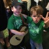 Rockin' out on St. Patrick's Day