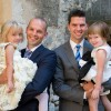 With our nieces at our wedding in France in 2014. Obviously, we had two flower girls for the wedding :)