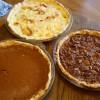 Tom's mom makes fantastic Thanksgiving pies!