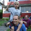 Guillaume with our nephew in Ohio over the 4th.