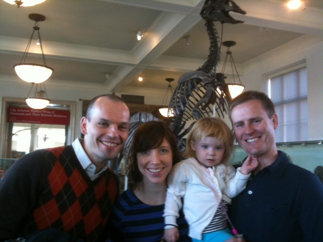 Family time at the National Museum of Natural History in NYC