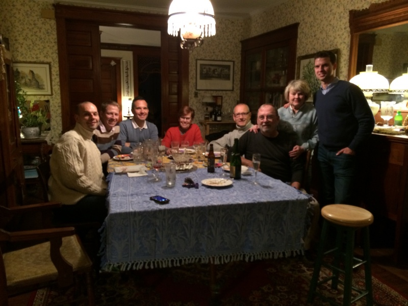 Our French and American families at Christmas time