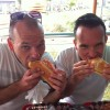 Guillaume and his brother Jerome, savoring his first lobster roll