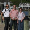 Guillaume and his parents visiting Long Island, NY