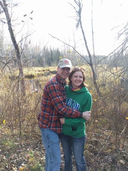Mike & Kristia out for a hike in Northern Minnesota