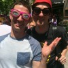 Tom with funny glasses and his brother Ben