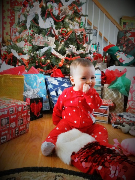 Aria's first Christmas in Virginia with Jason's family