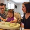 Coloring eggs at Grandma and Grandpa's