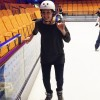Attempting to ice skate on a cruise