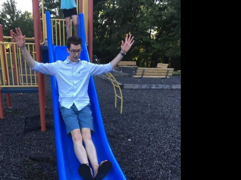 Jason at our neighborhood park