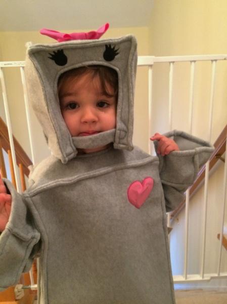 Aria's costume for Halloween