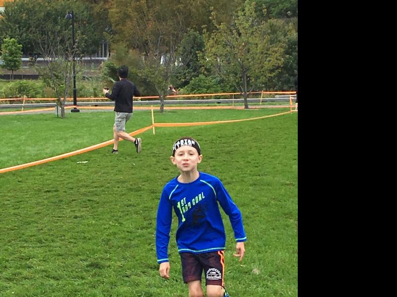 Brandon running his first spartan race, he loved it.  Go Brandon!