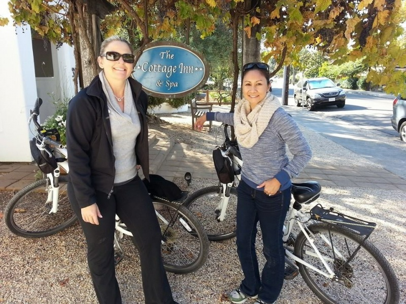 We went on a memorable bike ride on our honeymoon in Sonoma, CA