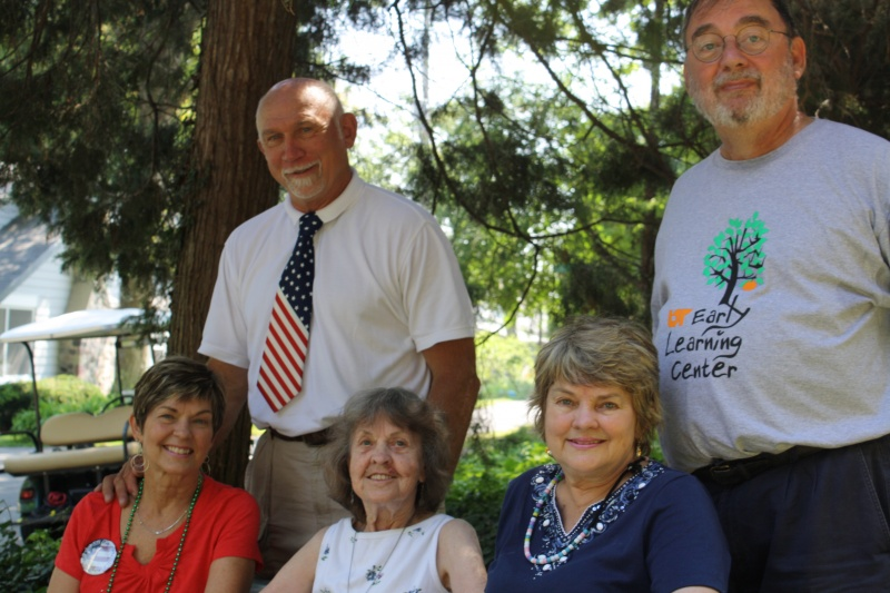 From left to right: Tom's aunt and uncle, his 96 year old GrandMa and his parents - ready for the 4th of July on Lake Erie