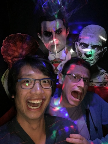 Halloween selfie booth at the Historic Alameda Theater