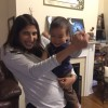 Meera dancing with our nephew, Jun