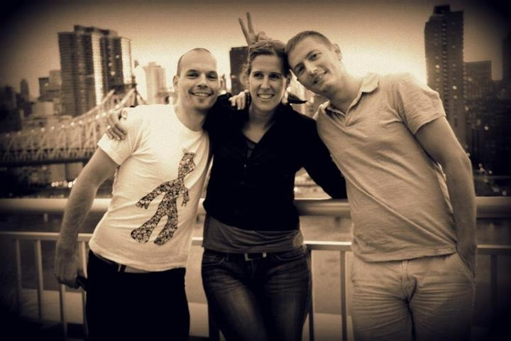 Guillaume with his friends, Veronique and Julian