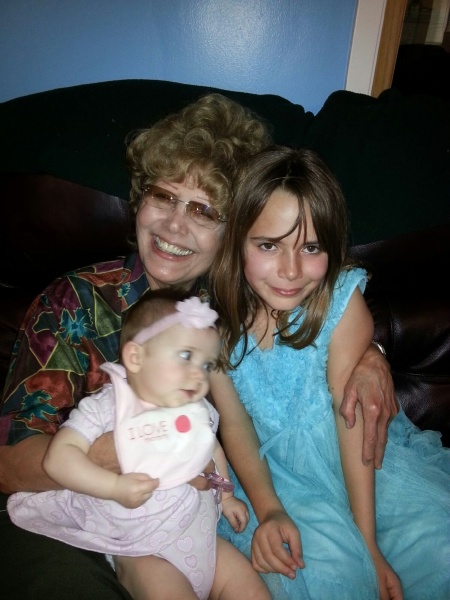 My aunt with my little cousins