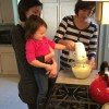 Making pancakes with Bethany's mom
