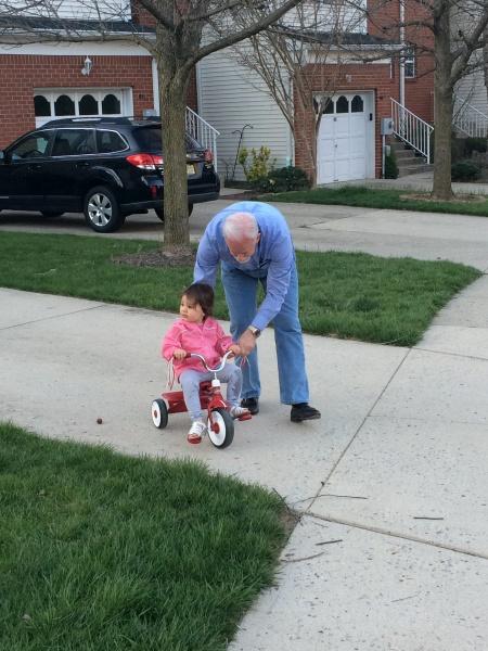 Bike ride with Poppy (Grandpa)