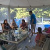 Family and friends barbecue