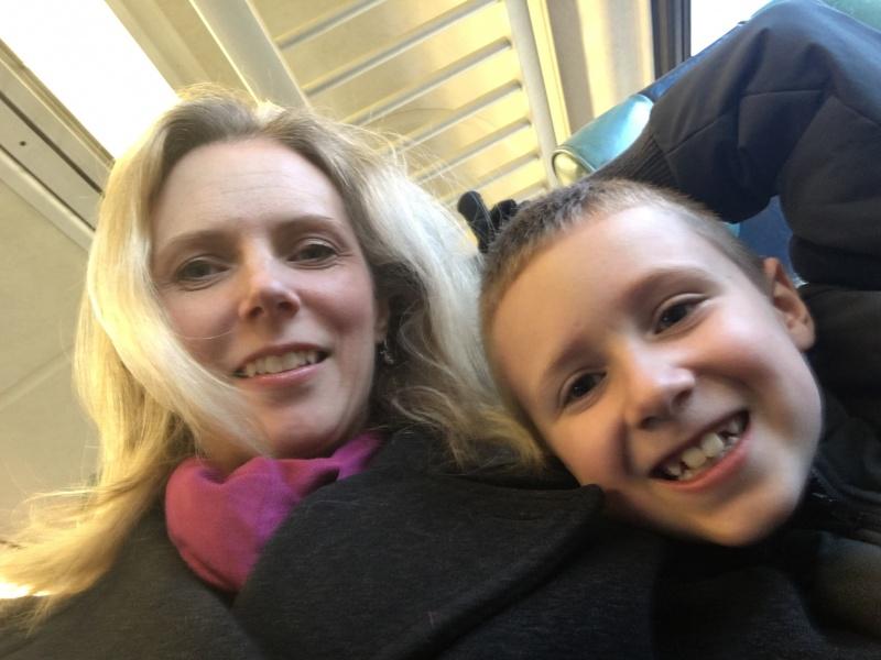 Debbie & Brandon on their way to NYC