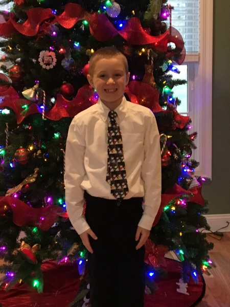 Ready for his Winter Concert.