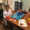 The scientist at work -- thanks, Santa!