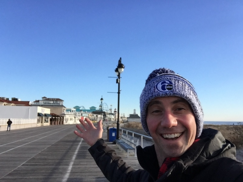 My early morning bike ride on the boardwalk on New Years Day !  A tradition for me for about 6 years now!