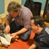 Reading to Wiley, the son of our friends Alex and Kelly