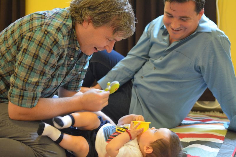 Playing with Nicolás, the son of our friends Leticia and Matt